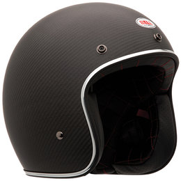 Bell Powersports Custom 500 Carbon Open Face Helmet Matte Black