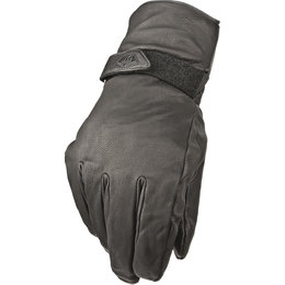Highway 21 Mens Granite Cold Weather Insulated Leather Gloves Black