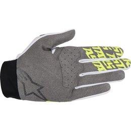 Alpinestars Mens Dune-1 MX Motocross Offroad Textile Riding Gloves White