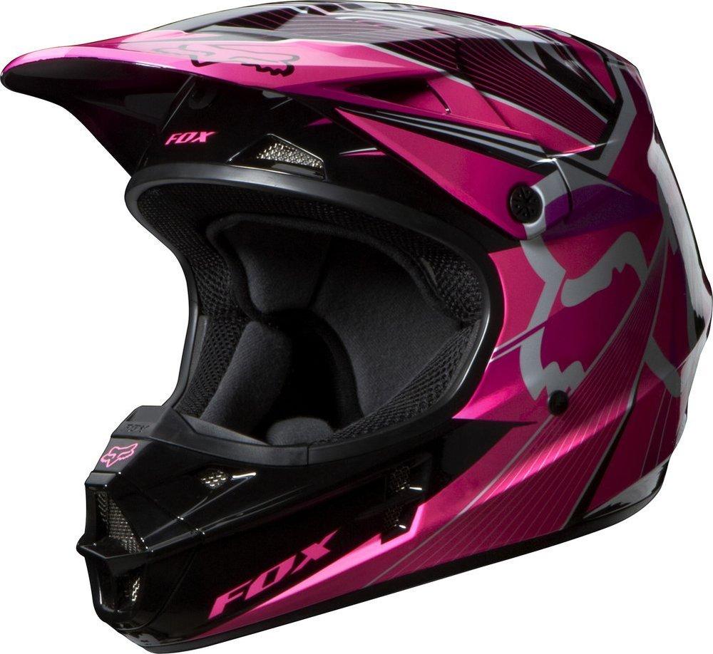 Full Face Cruiser Helmets >> $159.95 Fox Racing Womens V1 Radeon Helmet 2014 #194947