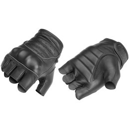 Black River Road Twin Iron Shorty Fingerless Leather Gloves 2013