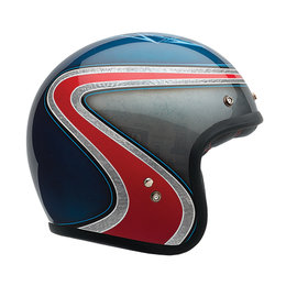 Bell Powersports Special Edition Custom 500 Airtrix Heritage Open Face Helmet Blue