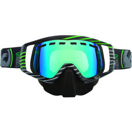 Black, Green Dragon Alliance Vendetta Linear Goggles With Green Ionized Lens 2013 Black Green