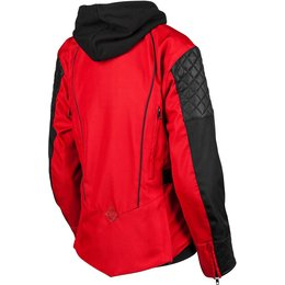 Speed & Strength Womens Double Take Armored Textile Jacket With Hooded Liner Red