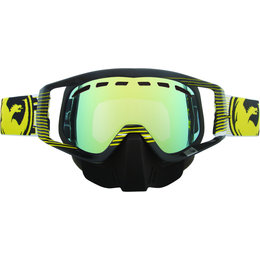 Black, Yellow Dragon Alliance Vendetta Nerve Goggles With Gold Ionized Lens 2013 Black Yellow