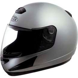 Dark Metallic Silver Gmax Gm38 Full Face Helmet Dk Metallic Silver