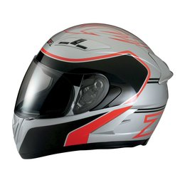 Z1R Strike Ops Full Face Motorcycle Helmet With Flip Up Shield Silver