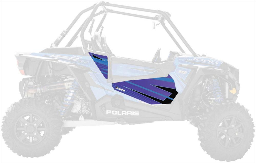 $129 99 Dragonfire Racing VooDoo Blue Door Panel Graphics #233556