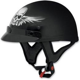 Black Afx Mens Fx-70 Fx70 Skull Half Helmet