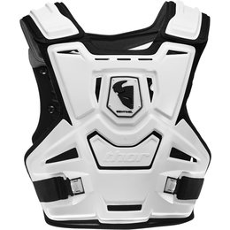 Thor Mens Sentinel Chest/Back Roost Guard Protector White