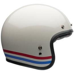 Bell Powersports Custom 500 Stripes Open Face Helmet White