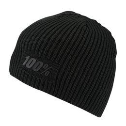 100% Mens Raw Acrylic Beanie Black