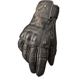 Highway 21 Womens Black Ivy Leather Gloves