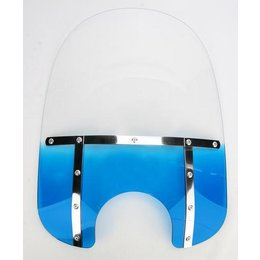 Memphis Shades Fat 17 Windshield 9 Inch Cutout Blue