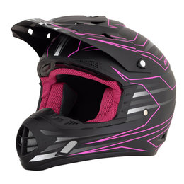 AFX Womens FX-17 FX17 Mainline MX Helmet Black