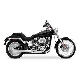 Chrome Supertrapp Kerker 2:1 Supermegs Exhaust For Harley Flh Flt 10-11