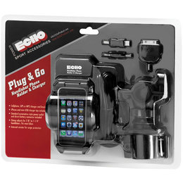 Black Echo Plug & Go Handlebar Mount Phone Holder And Charger