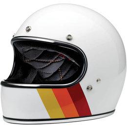 Biltwell Limited Edition Gringo Tri-Stripe Full Face Helmet White
