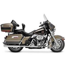 Chrome Supertrapp Kerker Slip-on Exhaust Mikuni For Harley Flh Flt 95-09