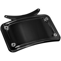 Kuryakyn Curved License Plate Frame Gloss Black For Harley FLHR/T/X FLST FLTR Black