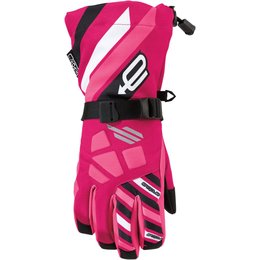 Arctiva Youth Girls Ravine Insulated Textile Snowmobile Gloves Pink