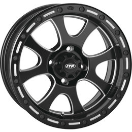 ITP Storm Series Tsunami 14x7 4+3 Offset 4/156 BP ATV Wheel 1422075727B Black