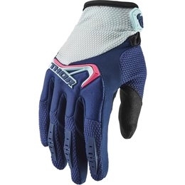 Thor Womens Spectrum Gloves Blue