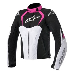 Black, Pink Alpinestars Womens Stella T-jaws Waterproof Textile Jacket 2015 Black Pink