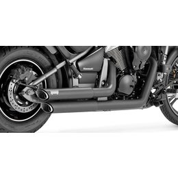 Vance & Hines Twin Slash Staggered Dual Exhaust System For Kawasaki Black 18397 Black