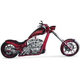 Chrome La Choppers Custom Exhaust Slash For Harley Right Side Drive