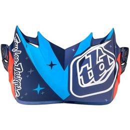 Troy Lee Designs SE4 Twilight Helmet Replacement Visor Blue