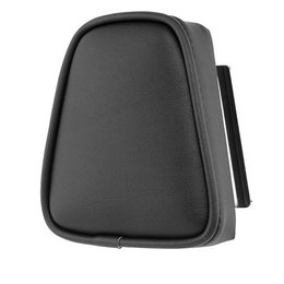 Black Khrome Werks Round Plain Sissy Bar Pad For Harley All