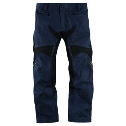 Icon Mens TiMax Armored Denim Street Riding Pants Blue Blue