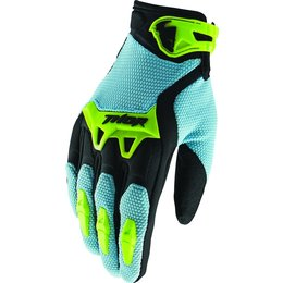 Thor Mens Spectrum Textile MX Motocross Riding Gloves Blue
