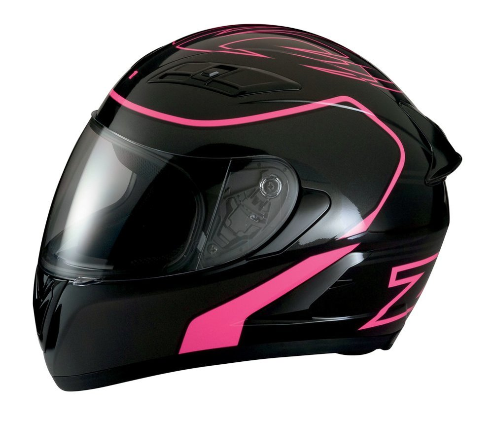 fd0fe5a0 Z1R Womens Strike Ops Full Face Motorcycle Helmet With Flip Up Shield Black  ...