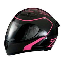 Z1R Womens Strike Ops Full Face Motorcycle Helmet With Flip Up Shield Black