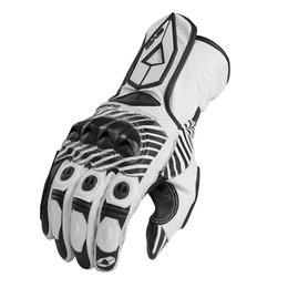 White, Black Evs Mens Misano Leather Gloves 2013 White Black