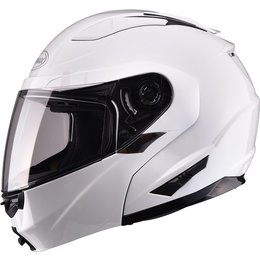 GMax GM64 Modular Helmet With Flip Up Chin Bar White