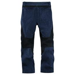 Icon Mens TiMax Armored Denim Street Riding Pants Blue Blue