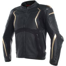 Dainese Mens Mugello Anniversario Armored Leather Jacket Black