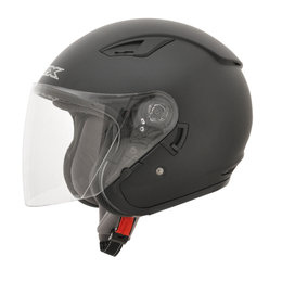 AFX FX-46 FX46 Open Face Helmet Black