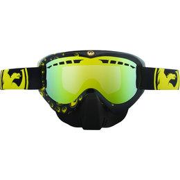 Black, Yellow Dragon Alliance X Icon Snow Goggles With Gold Ionized Lens 2013 Black Yellow