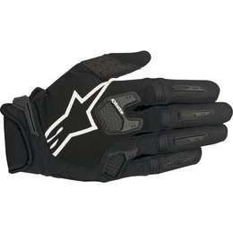 Alpinestars Mens Racefend MX Motocross Offroad Textile Riding Gloves Black