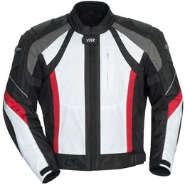 White, Black, Red Cortech Mens Vrx Textile Jacket 2014 White Black Red