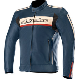 Alpinestars Mens Dyno V2 Leather Jacket Blue