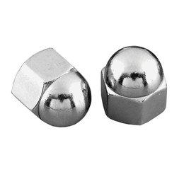 Gardner-Westcott Acorn Nuts Coarse 1/2-13 Chrome 10 Pack Metallic