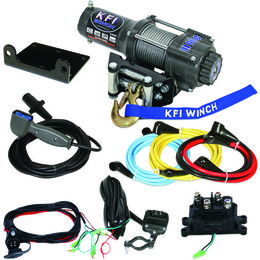 KFI A3000 ATV Series 3000 Lb Winch Kit With Steel Line Universal