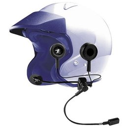 J&M HS-ICD279 High Output Open Face Helmet Headset W/Dynaport