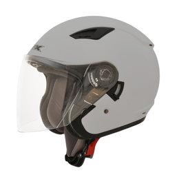 AFX FX-46 FX46 Open Face Helmet Silver