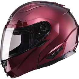 GMax GM64 Modular Helmet With Flip Up Chin Bar Red